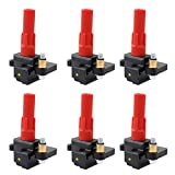 NewYall Pack of 6 Ignition Coil