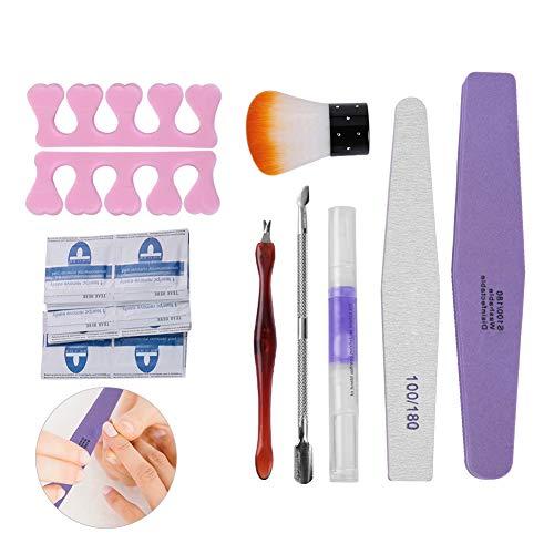Tampon de vernis à ongles, éponge à poncer les fichiers tampon de polissage manucure polonaise professionnel outil de soins de la peau (8pcs / pack)