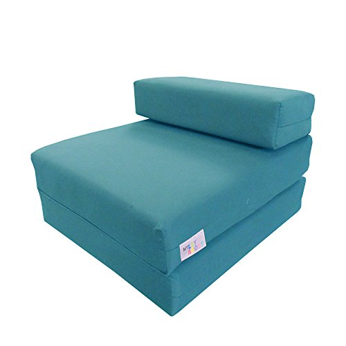 My Layabout Single | 1 Seater | Memory Foam Kids Z Bed/Chair bed/Fold up bed | Available in 10 colours (Pale Blue)