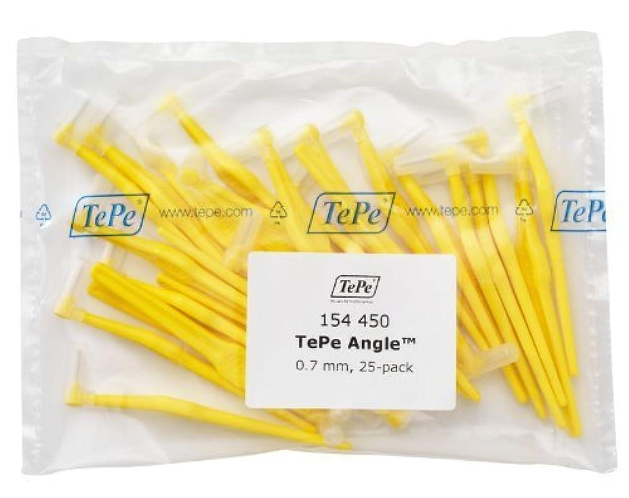 高速道路軽インシデントTePe Interdental Brush Angle - Yellow 0.7mm 25 pack by TePe Munhygienprodukter AB, Sweden [並行輸入品]