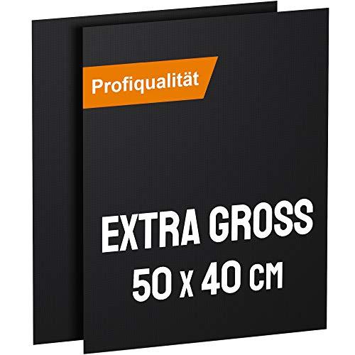 KOMOTO® BBQ Grillmatte (2er Set) 50x40 cm I Extra Dick I Für Gasgrill und Holzkohle