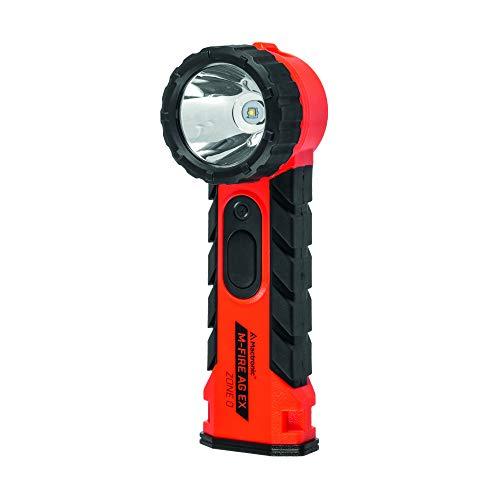 Torcia angolare Mactronic M-FIRE AG EX-ATEX LED 323 lumen | Peso 250 g con batterie, grado di protezione IP54, portata fino a 288 m | Alimentazione: batterie, 4 × Energizer E91 (AA) (incluse)
