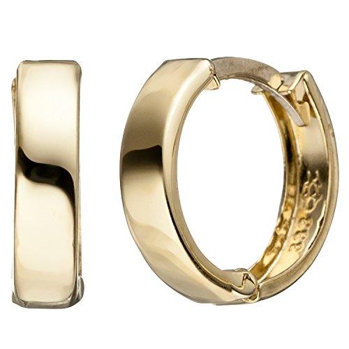 JOBO Creolen rund 333 Gold Gelbgold Ohrringe Goldcreolen Goldohrringe