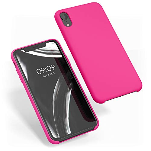 kwmobile Cover Compatibile con Apple iPhone XR - Custodia in Silicone TPU - Back Case Protezione Cellulare Rosa Shocking