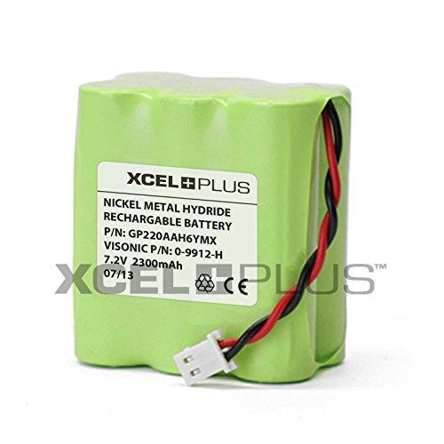 Visonic 1300 mAh PowerMax 7,2 V Panel de alarma batería 0-9912-H