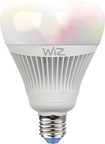 Smartes LED-Leuchtmittel von WiZ; Kolbenform G100 (E27), weiß + farbig, WLAN-schaltbar. Dimmbar; 64.000 Weißschattierungen + 16 Mio. Farben. Kombinierbar mit Amazon Alexa und Google Home.