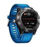 Zeblaze Vibe 6 - Reloj inteligente con monitor de ritmo cardíaco, monitor de presión arterial, impermeable, pantalla IPS de 1,3 pulgadas, Bluetooth (azul)