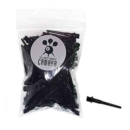 BILLARES Y DARDOS CAMARA Bolsa con 100 Puntas de Dardos de plástico Diana electrónica (Negro)