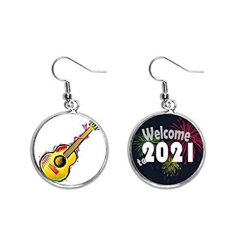 Instrumento Guitarra Mexicon Elemento Ilustración Oído Colgantes Pendientes Joyería 2021 Bendición