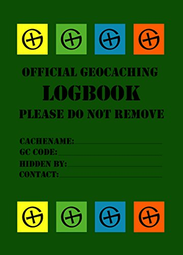 10 x Geocaching Logbook, Logbuch - English, 40 Sites 114 Logs with Name and Date for LOCK&LOCK Boxes DIN A7