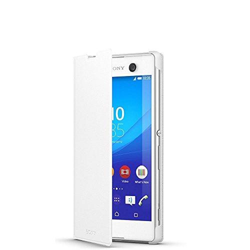 Sony BT-SOSCR48W Style Cover Window per Xperia M5, Bianco