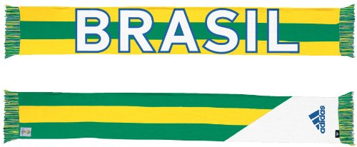Adidas Brazil Brasil 2014 FIFA World Cup Authentic Jacquard Team Scarf