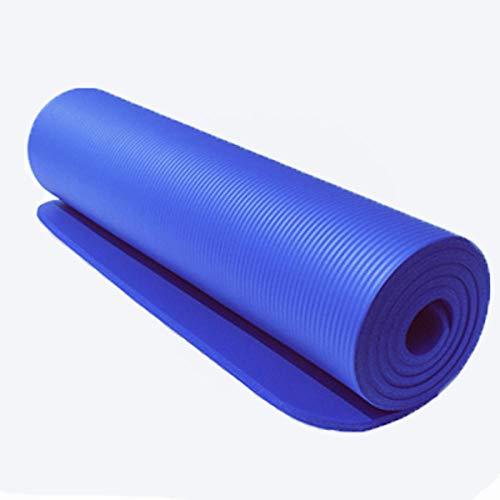 Dqianyu Yogamatte rutschfest aus TPE,Yoga Mat Teppiche Handtuch Matratze Übung Balance Massage Fitness Spielmatte Tasche Yoga Gym 183 × 61 × 1cm-Blau