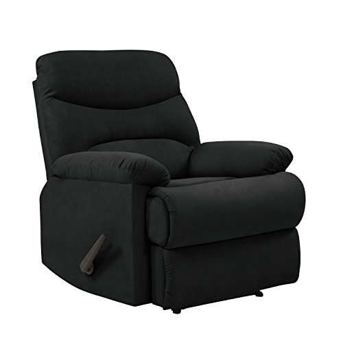 ProLounger Wall Hugger Recliner Chair in Black Microfiber