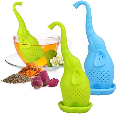 ANYI16 Tea Infuser Filter 2 Pack Silicone Tea Ball Loose Tea Steeper Mesh Tea Cup Filter with product image