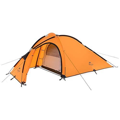 SSG Home Utilisation Multiple Sports de Plein air Tente Camping Épaississement Crème Solaire Anti-Pluie extérieure Double Tente Pliante Coupe-Vent Respirant Équipement d'extérieur (Color : Orange)