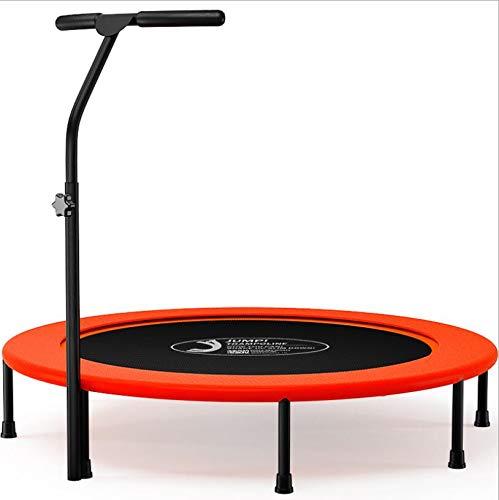 WLWLEO 48 inch trampoline met trainingsrooster, opvouwbare trampoline, rustige afdekking voor volwassenen tot 150 kg