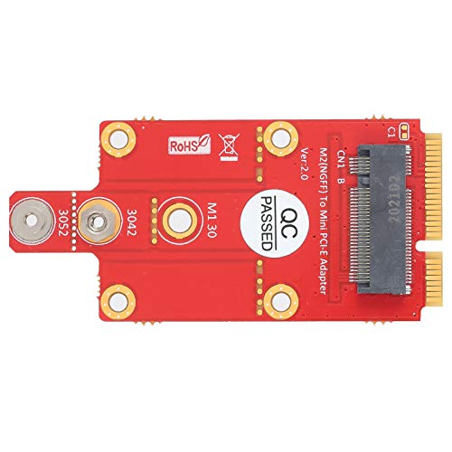 Haowecib Adaptador M.2 Key B A Mini PCI-E, Convertidor M.2 Key B A Mini PCI-E Resistente Al Desgaste para Computadora De Escritorio para Computadora Portátil para Uso General para Uso Profesional