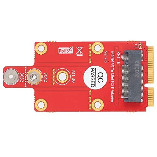 Haowecib Convertitore M.2 da Chiave B a Mini PCI‑E, Pratico e Robusto modulo M.2 da Chiave B a Mini PCI‑E per Uso Professionale per Computer Desktop per Laptop per Uso Generale