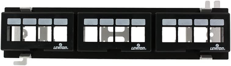 Leviton 47689-QP QuickPort 12-Port Multimedia Patch Block, 10-Inch H X 2.375-Inch W