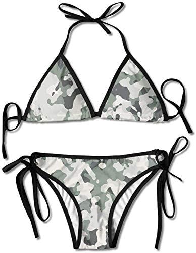 keben Bikini Damen Bademode Army Camouflage Boxing Bikini Set Badeanzüge 2 Stück