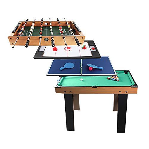 AeasyG 4 in 1 Combo-Spieltisch, Multi-Game-Tisch, Eishockey/Fußball/Tischtennis/Billard, mit allem Zubehör, Tischspiel-Freizeit für Familien/Freunde Party Erwachsene/Kinder