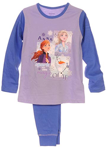 Anna Elsa Pyjama Kinder Schlafanzug Frozen 2 Eiskönigin 104 110 116 122 128 140 (7-8 Jahre)