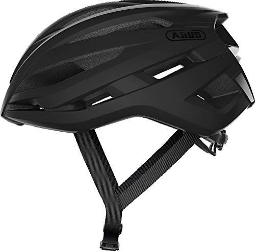 ABUS StormChaser Rennradhelm - Leichter und komfortabler Fahrradhelm für professionellen Radsport für Damen und Herren - 87010 - Schwarz Matt, Größe L