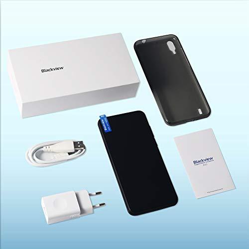 Blackview A60 Smartphone ohne Vertrag Günstig 15,49 cm (6,1 Zoll) HD+ Display 4080mAh Akku, 13MP+5MP Dual Kamera, 16GB ROM, 128 GB erweiterbar Dual SIM Android Einsteiger Handy - Mist Blau - 8