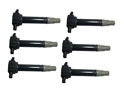 Ignition Coil Pack Set of 6 - Compatible with Dodge & Chrysler V6 2.5L 2.7L 3.5L Vehicles - Replaces 4606869AA - Fits Magnum, Charger, Nitro, Challenger, 300-2006, 2007, 2008, 2009, 2010