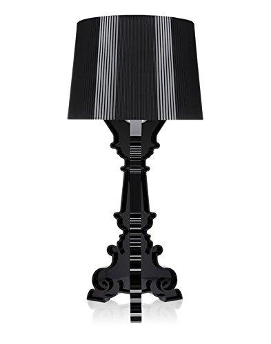Kartell 9071Q8 Bourgie Lampada da Tavolo, Nero, plastica