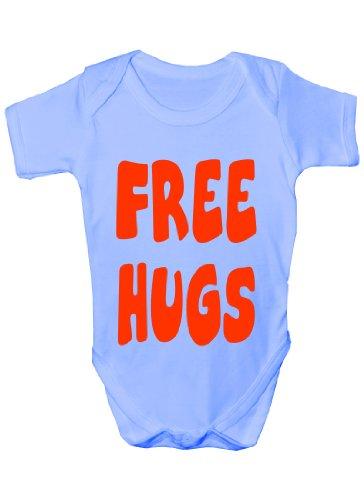 Free Hugs ~Cadeau humoristique Bébé Fille/Garçon-Gilet-cadeau - Bleu - 3 mois
