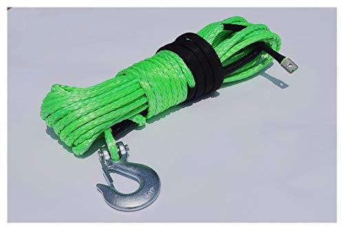 Dhmm123 Cuerdas de Remolque Cable de cabrestante sintético de 10 mm * 30, Cuerdas de Remolque, Cuerda de cabrestante de Kevlar para Accesorios Fuera de la Carretera