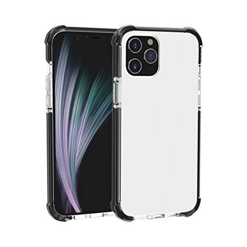 LESLEY LM for iPhone 12 Mini Caja Protectora a Prueba de choques a Prueba de choques de Cuatro Esquinas. 2021 Black+Transparent