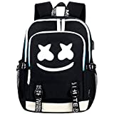 Cute DJ Backpack, FYEKR Luminous Laptop Backpack Hiking Casual Daypack School Bookbag(Black)