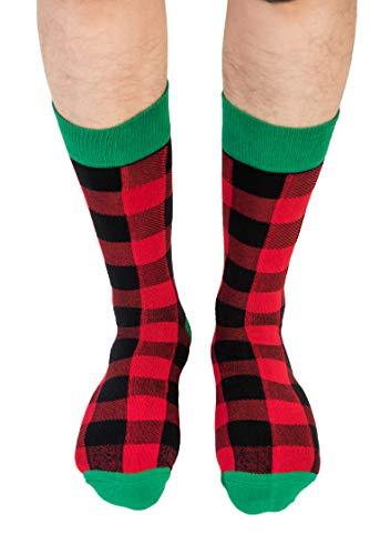 Socken für Ihn | lustige Socken Geschenk für Sie | Happy Gift Socken Witziges Geschenk für Papa | Socken für Mama - Rot - Einheitsgröße