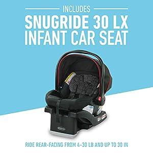 Graco FastAction SE Travel System | Includes FastAction SE Stroller and SnugRide 30 LX Infant Car Seat, Hilt