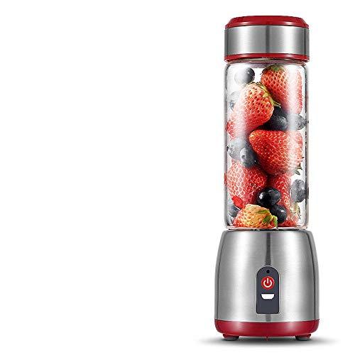 B/H Licuadora Portátil,Exprimidor Multifuncional Recargable, Mini exprimidor USB - Copa Individual de una Sola Capa,Vaso Individuales para Fruta