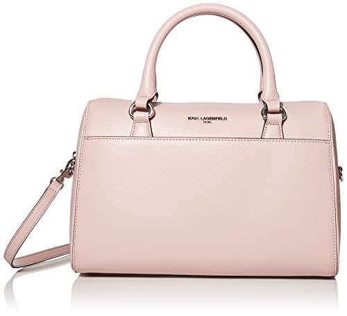 Karl Lagerfeld Paris Damen-Handtasche aus Weidenholz, Pink (Dusty Rose), Einheitsgröße