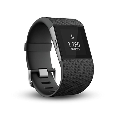 Fitbit Surge Fitness Watch Small, Schwarz, S (140–170mm Handumfang)