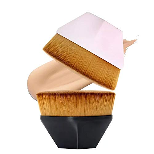 Edary Make-up Pinsel Magic Brush No Trace Foundation Pinsel Blütenblatt Make-up Pinsel Diamant Make-up Pinsel Sechseck Make-up Pinsel Polygonale Make-up Pinsel (Schwarz)