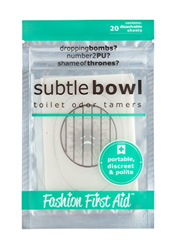 FASHION FIRST AID: Subtle Bowl: Geruchs-Entferner für Öffentliche Toiletten | Geruchshemmung für Parkplatz-Klos und für Unterwegs 20 Stück - 3