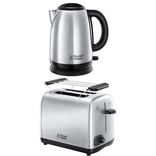 Russell Hobbs Set Petit Déjeuner Bouilloire et Grille Pain Toaster Adventure - 23912-70 et 24080-56