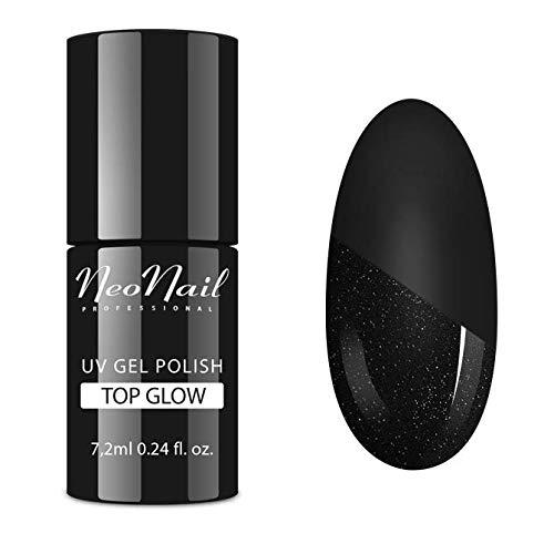 NEONAIL Nagellack UV Überlack Fixierglitter mit Partikeln TOP GLOW SILVER 7,2 ml