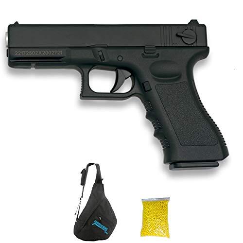 GOLDEN EAGLE Glock Negra   Pistola de Airsoft con Sistema Muelle para Bolas de 6mm. Potencia: <3,5 Julios