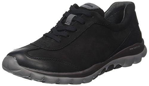 Gabor Shoes Damen Rollingsoft Derbys, Schwarz (47 Schwarz/Anthrazit), 37 EU