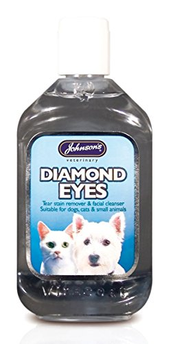 Johnsons Diamond Limpiador de lagrimales y manchas faciales para perros, gatos y mascotas, 250 ml