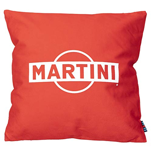 MERCHANDISING Martini Racing Cojín   Rojo   40 x 40 cm   con cremallera