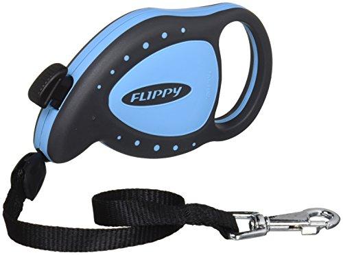 Ferplast Flippy Mini Deluxe Laisse à enrouleur pour petits chiens et chats bleu