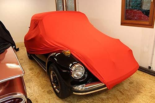 AD-Cover Vollgarage Mikrokontur® Rot für VW Käfer, schützende Autoabdeckung mit Perfekter Passform, hochwertige Abdeckplane als praktische Auto-Vollgarage